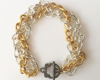 SALE! Chunky Braided Chain Bracelet