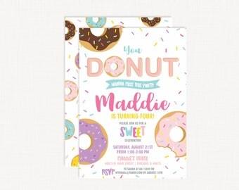 Donut Birthday Invitation | Donut Party | Donut Invitation Printable | Donut Invite | Donut Invitation Photo | Donut Birthday Party |