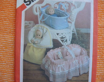 vintage 1980s sewing pattern Simplicity 6056 baby doll carriers UNCUT