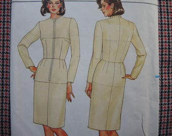 vintage 1980s Butterick sewing pattern 3415 Misses fitting shell dress UNCUT size 14