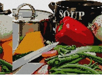 Needlepoint Canvas: Cooking