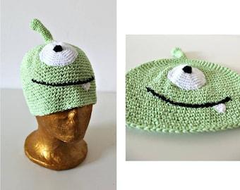 Kid's Organic Cotton Unisex Unique Hand crocheted hat Sun hat Sauna hat Beach Eco Friendly Green hat Bohemian Vegan clothing Summer Spring