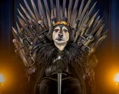 GAME OF THRONES, Custom Pet Portrait, Jon Snow, Game of Thrones Gift, Pet Portrait, Gift for him, Gift for husband, Gift for boyfriend, gift