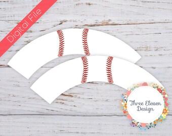 Baseball Printable Cupcake Wrappers