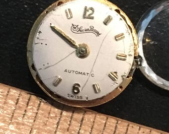 Lucien Piccard LP 85 Swiss Automatic Watch Movement For Parts