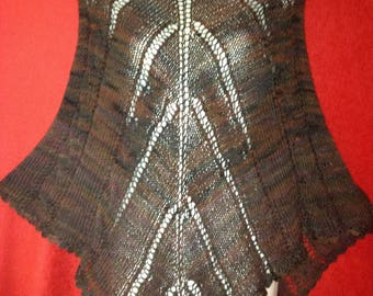 Small brown poncho electricity Handmade wool