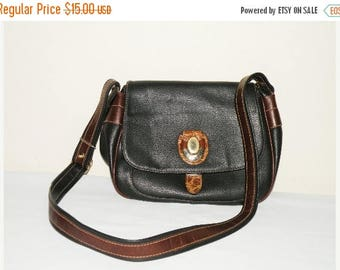 SALE Black Italian Bag / Shoulder Bag / Made in Italy