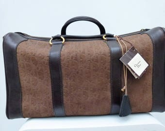 bag christian dior 48h in brown leather and monogrammed suede