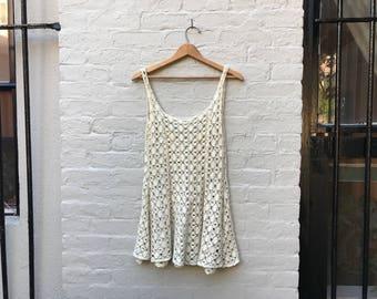90s Crochet Babydoll Dress