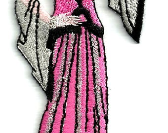 Art Deco - Vintage Lovers - Model - Fashion - Iron On Embroidered Applique Patch (70A)