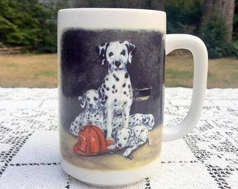 17% OFF SALE Dalmatian Coffee Mug/ Otagiri Dalmatian Mug/ Firefighter Gift/ Dalmatian Puppies/ Firehouse Dog Mug/Linda Picken Design/Otagiri