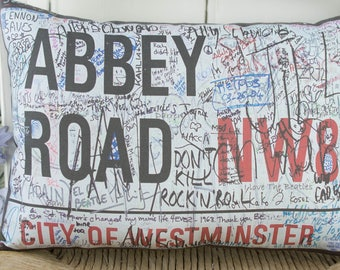 The Beatles Cushion Pillow  Abbey Road London Pillow  Beatles Gift