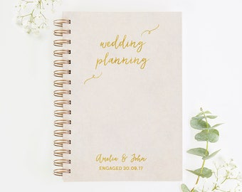 Engagement Gift Wedding Planning Notebook Personalised