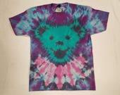 Funky Tie Dye Grateful Deadbear T-shirt size Large S424