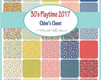 NEW - 30's Playtime Mini Charm Pack by American Jane for Moda