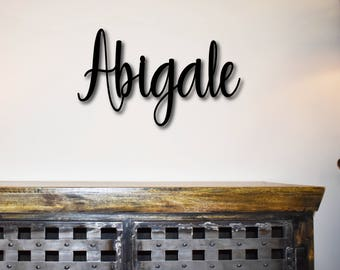 Custom, Personalized Family Name Sign, Metal Name Sign, Metal Words, Wreath, Last Name, Wall Words, Metal Letter, Metal Monogram, Letters