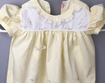 Vintage handmade dress for  18 months old baby girl