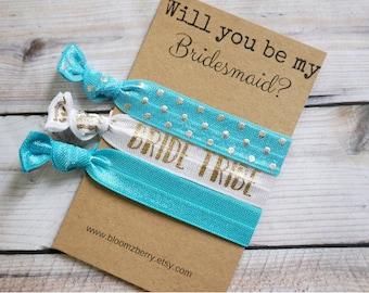 White/Blue/Gold  Bridesmaid Gift 3 pcs set - Will you be my Bridesmaid- Bridesmaid's Proposal Gift- Wedding/Bridesmaid/Gift/Wedding Party
