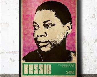 Bessie Smith Blues Music Art Poster