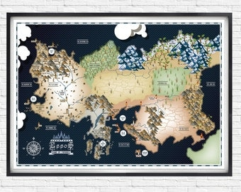 Game of Thrones - Essos Map - - - A1 - - - Poster