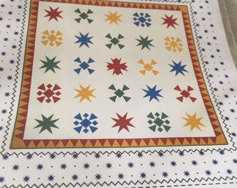 """Paper Pattern for a quilt called Sparkle Clean by Sandy Klop for American Jane Patterns 72"""" square"""