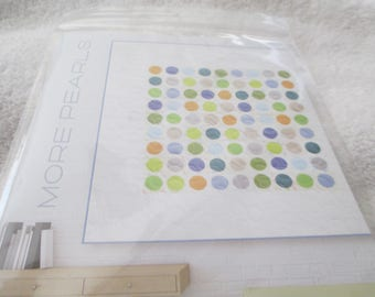 """Paper Pattern for a quilt called More Pearls by Zen Chic for Moda 62"""" square"""
