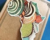 Artistic Africa Vinyl Sticker, African Sticker, Travel Decal, Adventure Decal Sticker, Bumper Sticker, Laptop Decal, African Sticker