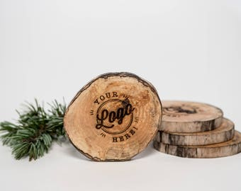 Custom Logo West Coasters - Driftwood Engraved Coasters - Sustainable Gift - Corporate Gift - Wood - Eco Houseware