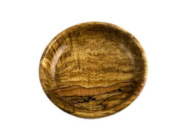 Highly Figured Spalted Maple Wood Bowl FB5166
