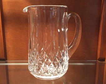 Waterford Pitcher / Vintage Waterford Irish Crystal Water Pitcher / Lismore Pattern Crystal Pitcher Serveware