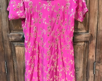 VINTAGE PINK TUNIC from India