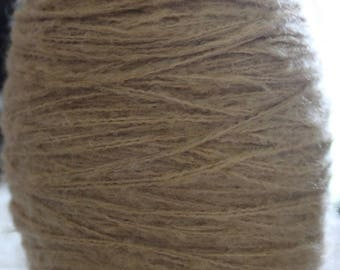 Wool cone lined camel color wool yarn