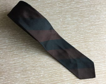 Vintage Skinny Striped Silk Necktie