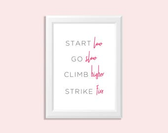 girlboss wall art - girl boss art - inspirational art - girlboss quotes - inspirational boss quote - inspirational girl quote