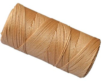 1 SPOOL Macrame String, Jewelry Thread, Linhasita Palha, Friendship Bracelets Cord, Macrame Rope - Golden Brown