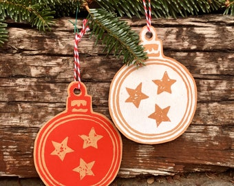 Tennessee Gift tags, ornaments, paper handmade