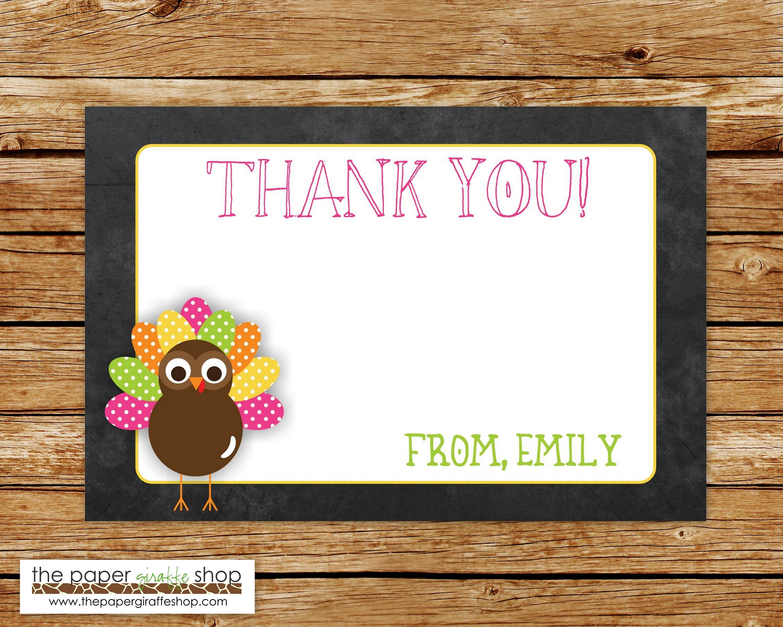 Little Pink Turkey Invitation | Little Turkey Chalkboard Birthday ...