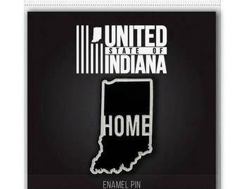 Indiana  Home Enamel Pin