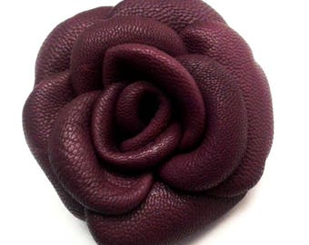 lamb leather flower Burgundy-wine + 7 cm