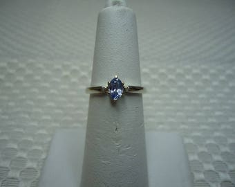 Oval Cut Ceylon Sapphire Ring in Sterling Silver  #2008