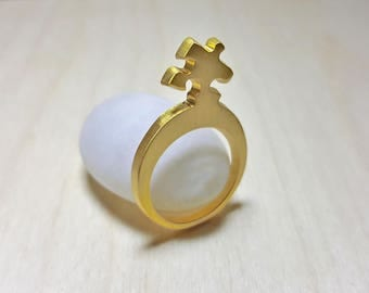 Puzzle Ring, Puzzle Rings for Women, Puzzle Piece Ring, Architectural Ring, Puzzle Piece Jewelry, Puzzle Jewelry, Puzzle Gifts