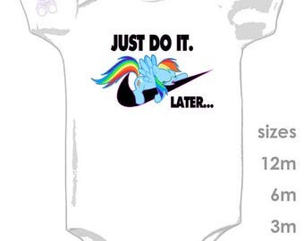 Just do it. Later... Nike funny onesie - for your lil' sleeping baby - Sports Babies