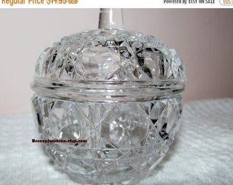 On Sale NOW Crystal Bowl with Lid, Miniature Crystal Dish, Gift Box, Jewelry Holder, Trinket Bowl, Tiny Crystal Glass Dish - BreezyJunction.