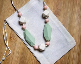 Chewable Silicone Nursing / Teething Necklace for Breastfeeding Baby