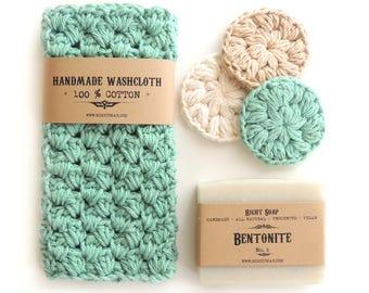 Birthday Gifts Women Gift Set for Her Teacher Gift Sister Mom Birthday Gift Stocking Stuffer Gift For Christmas Soap Washcloth Face Scrubby