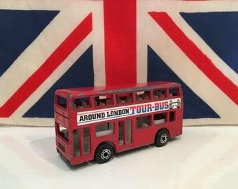 Vintage Matchbox Red London Double Decker Bus London Souvenir