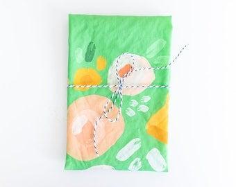 Tea Towel - Linen Cotton - Floral Pattern