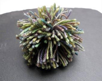 Big Green Mix Pompom 60mm, 2.36 inches Wool Mix Yarn