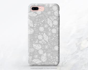 iPhone 8 Case iPhone X Case iPhone 7 Case Gray Floral iPhone 7 Plus Case iPhone 6s Case iPhone SE Case Galaxy S7 Case Samsung S8 Case T120