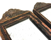 Antique Wood Mirrors Matched Pair